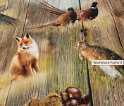Fuchs und Hasi Oval, 140cm X 250cm