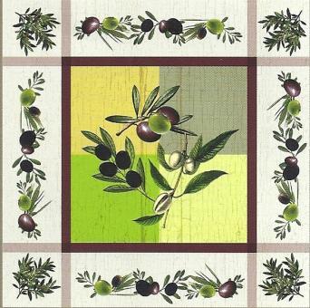 30 % Rabatt, Oliven auf quadratischer Decke