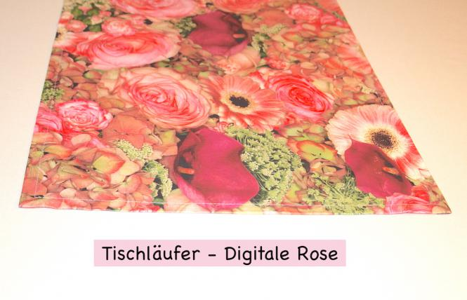 Tischläufer Digitale Rose